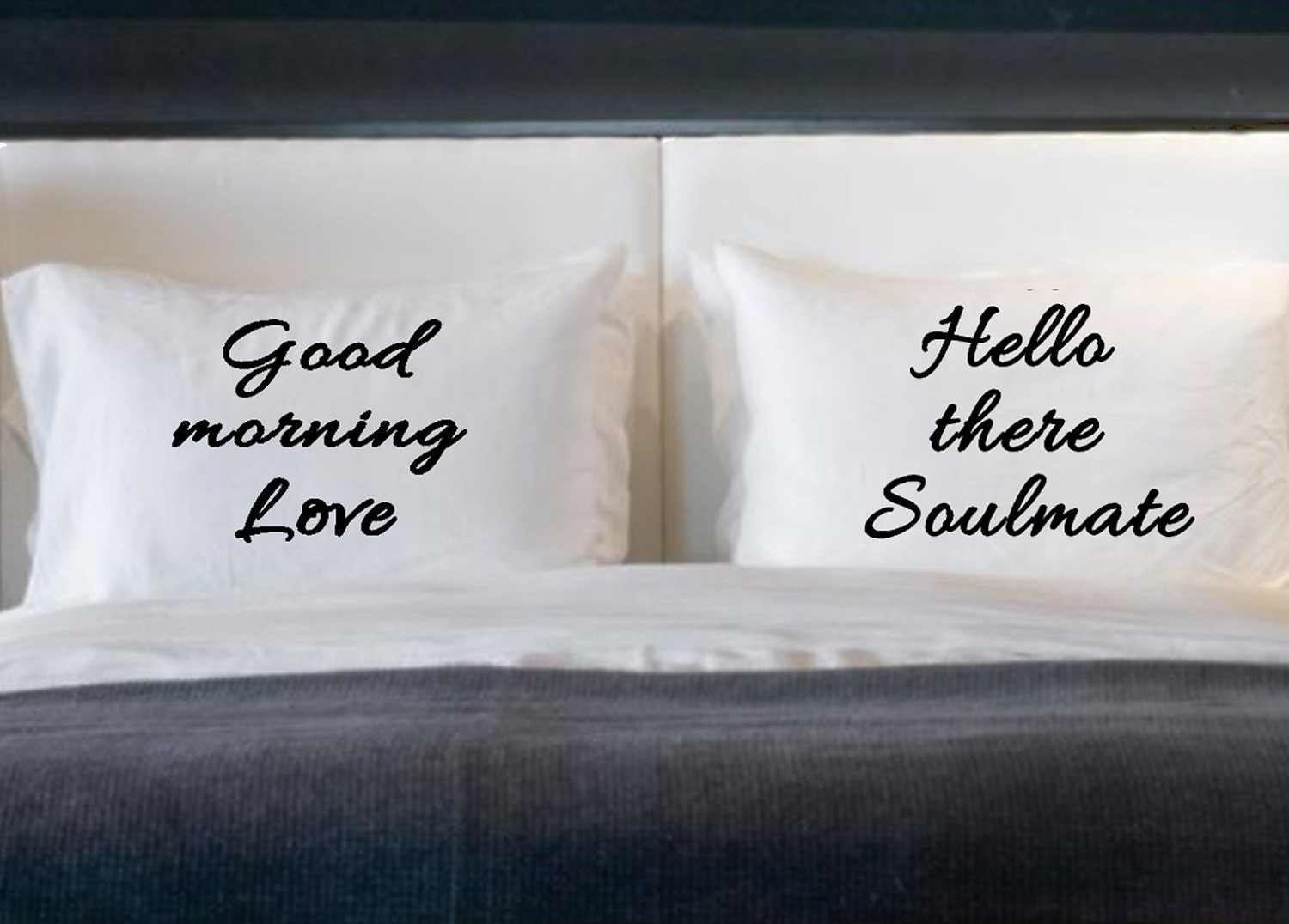 Soulmate Love His And Her Pillow Cases For Standard Bed