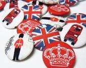 British Jubilee Fabric Badge Set