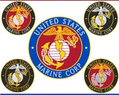 Digital Clipart U.S. Marine Corp Emblem (5) PNG