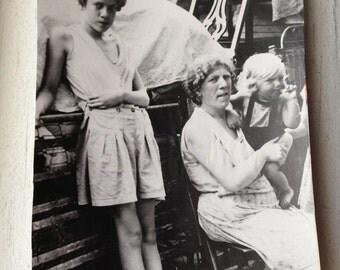 SALE-Vintage  photograph - Family move -A