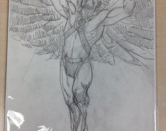Hawkman pencil sketch by Steve Lieber