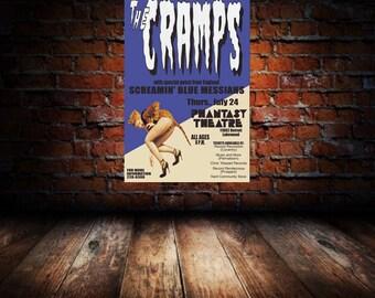 Cramps 1986 Cleveland Concert Poster