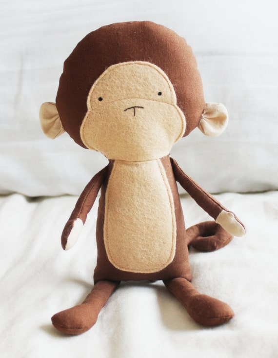 Monkey Sewing Pattern Chimp Softie Plush Toy Cloth Doll Pattern PDF