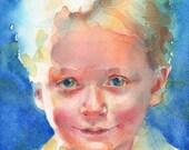 """9 x 12"""" Custom Portrait in Watercolor"""