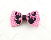 CLEARANCE -- Minnie Mouse Silhouette Hair Bows / Hair Clips / Snap Clips / Barrettes / Ponytails Signature Style (x1)