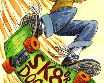 SK8 or Doodle: Skateboarding Comics Zine