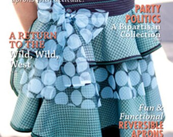 Apron Polka Dots & Teal  Apronology 2013 Magazine, Trish Vernazza, Signed by Cover Girl Artist