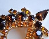 Lovely Warm Amber Vintage Brooch