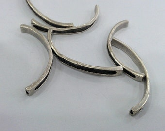 2 Pcs. Antique Silver Plated Brass  Bracelet For Your Craft , Findings, G95