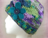 ON HOLD - Freeform Crochet Hat with Scarf & Wristwarmers