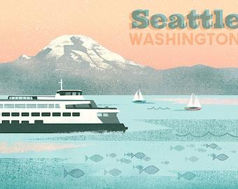 Seattle Ferry Print