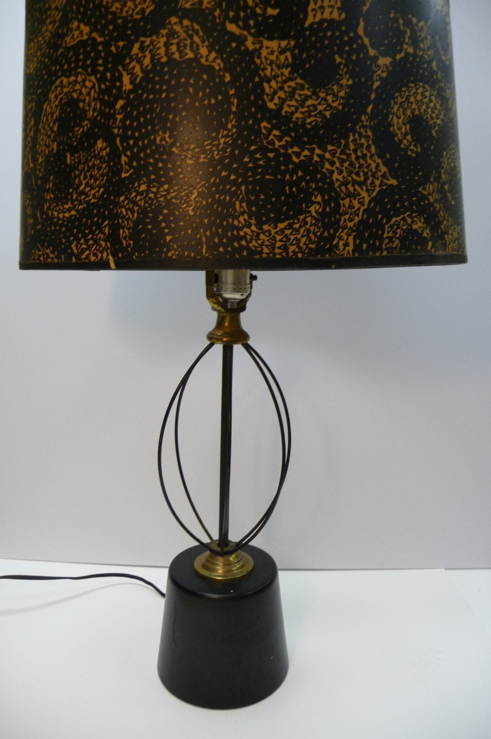 Vintage atomic lamp mid century eames era black by for Eames lampe