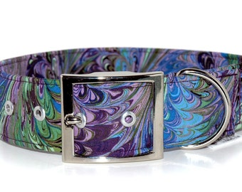 The 1.5 inch or 2 inch Belt Style Collar in your choice of Fabric.