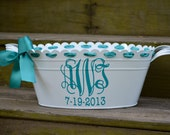 Personalized metal tub/ beverage bucket-assorted colors available
