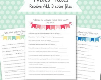 Baby Wives' Tales - Baby Shower Printable Game