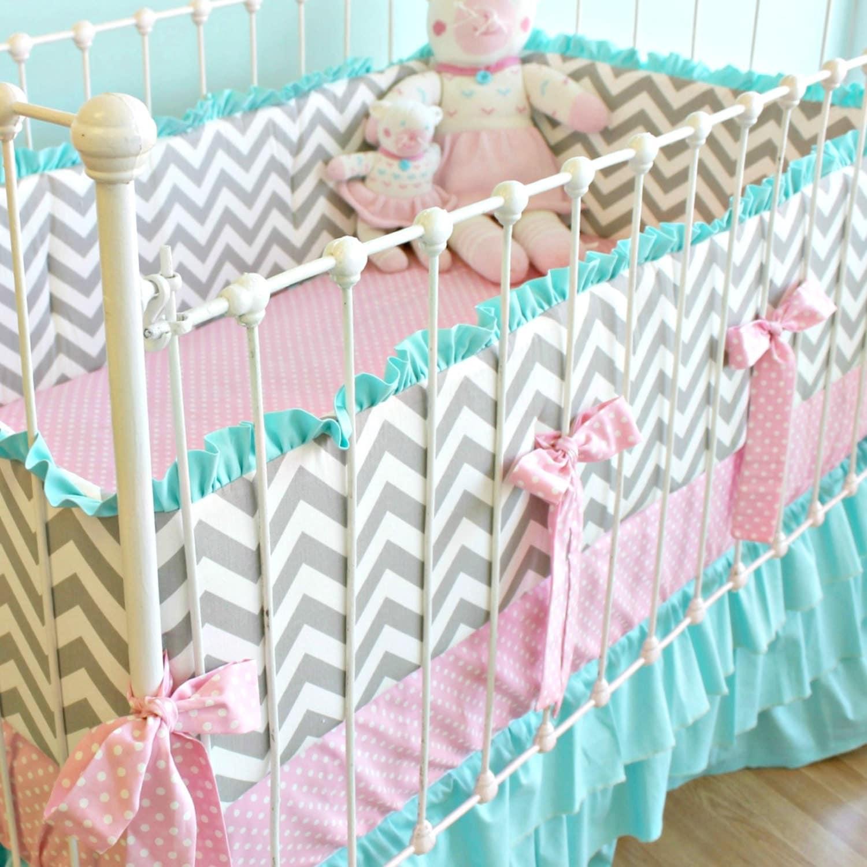 100 Coral Chevron Crib Bedding Solid Light Coral Mini Crib Sheet
