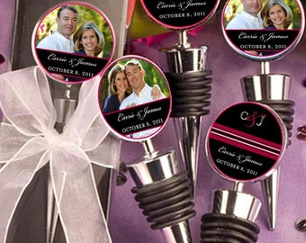Wedding Favors, Wine Bottle Topper, Personalized, custom designs or photos