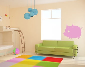 Vinyl Wall Decal Sticker Piglet 166