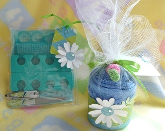 Manicure Gift Set..Adult Washcloth Cupcake..2 Combo Gifts ..Make Someone Smile..Christmas..Birthday..Choose Custom Theme for Wrapping :)