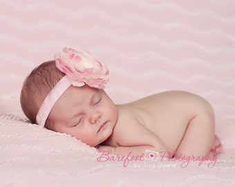 baby headband, pink headband, newborn headband