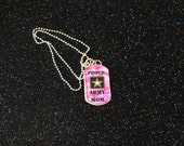Army Mom Dog Tag Necklace or Navy Mom or Air Force Mom