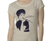 Jane Austen Sense and Sensational Ladies T-Shirt in Soft Cream or Pink