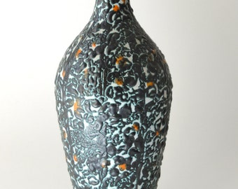 Vintage Fat Lave Modernist Vase Hungary