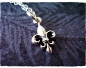 Tiny Fleur de Lis Necklace - Sterling Silver Fleur de Lis Charm on a Delicate Sterling Silver Cable Chain or Charm Only
