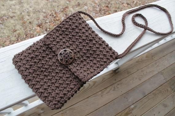 Crochet Cross Body Bag Pattern : CROCHET PATTERN - Crossbody Bag - Crochet Bag Pattern - Crochet Purse ...