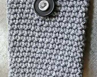 Crocheted cell phone cozy / cover / case / sock