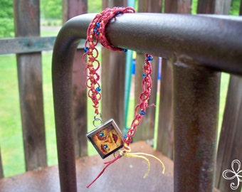 My Sunshine Memory Glass Ripple Hemp Necklace