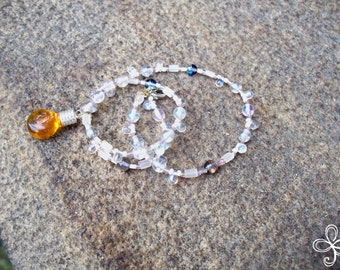 Bee Sweet Honey Necklace 1-H (beaded)