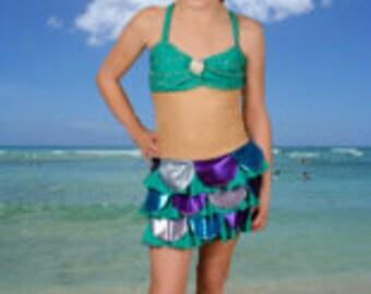Disney Inspired Little Mermaid figure skating dress - ladies sizes XS-XL