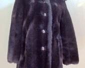 "Vintage Royal-Minke by Hillmoor / Clarke's Good Clothes Plush Brown Coat Bust 42"" Waist 41"""