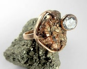 DIAMOND and THE ROUGH Rose Gold Ring