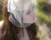 Double Birdcage Veil, Bridal Veil, Wedge Veil, Gabrielle