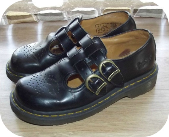 Vintage 90s Dr Martens Double T Strap Mary Janes Shoes 6 Us 4