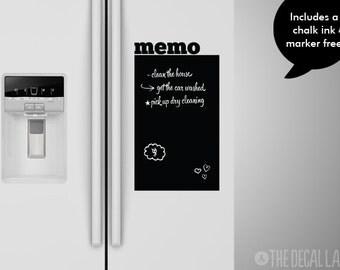 Memo Chalkboard Wall Decal - To Do List Wall Decal - Blackboard Decal - Free Chalk Ink Marker - CHK-MEMO1