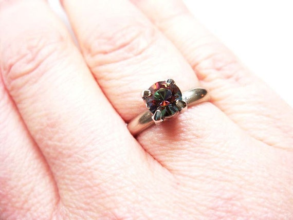 Multi Colored Vintage Swarovski Crystal Ring