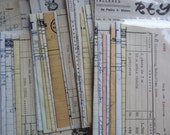10 Vintage Spanish ephemera - Bills and invoices paper pack