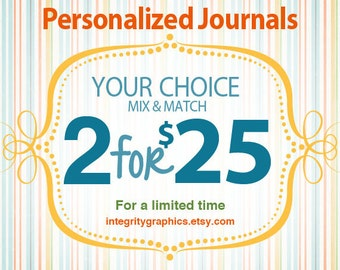 2 for 25 YOUR CHOICE Prayer Journals or Notebooks