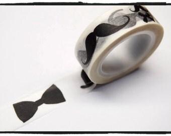 Moustache mustache Washi Tape 15mm x 10m WT266