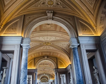 Rome 1 - Ceilings of The Vatican, Rome - Travel Photography - Wall Décor - Nature Photography