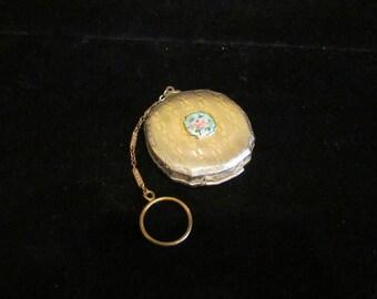 1920s Compact Purse Vintage Compact Dance Purse Guilloche Powder Rouge Finger Ring