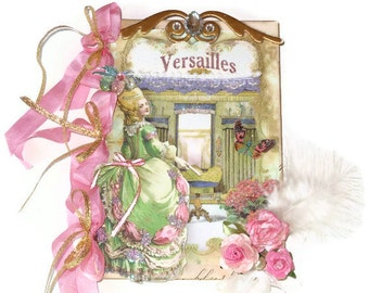 Marie Antoinette Art Journal Collage Mixed Media Decor