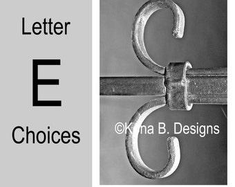 Letter E  -  Alphabet Photography  -  4x6 Photo Letter -  Unframed - Black and White or Sepia