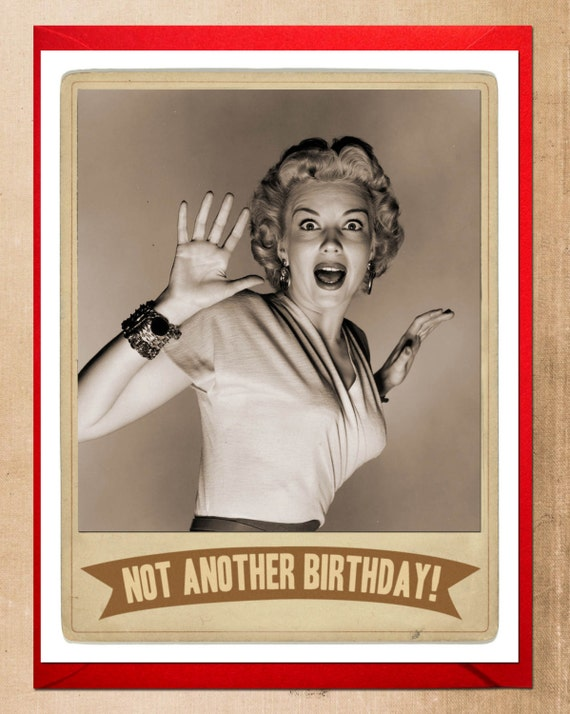Funny Retro Birthday Wishes ~ Birthday card screen queen cards black and white
