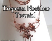 TUTORIAL  Triquetra - Wire Wrapped Trifoil Necklace, Wire Wrap Instruction