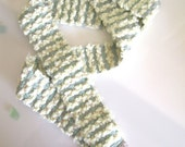 Pastel Infinity Scarf, Circle Scarf, Handwoven Pale Yellow, Mint and Lavender Skinny Scarf - Girls Scarf - Ocean Ripple