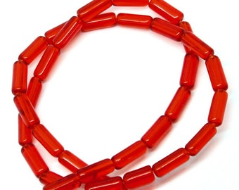 "Red Glass Bead Strand 10mm x 4mm -  3/8"" x 1/8""  BD267"